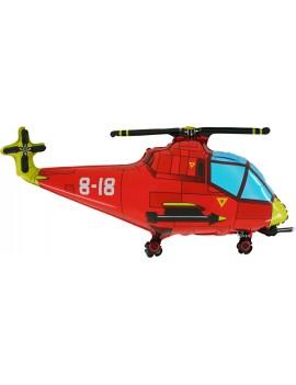 Palloncino Elicottero Rosso
