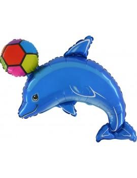 Palloncino Delfino Blu con Palla