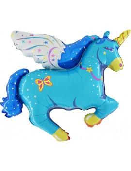 Palloncino Unicorno Blu