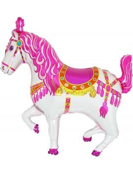 Palloncino Cavallo Circo Rosa