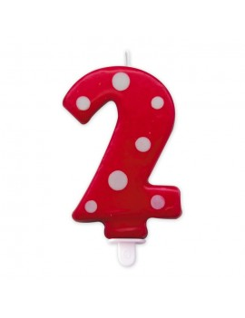 Candelina Pois Rossa Numero 2