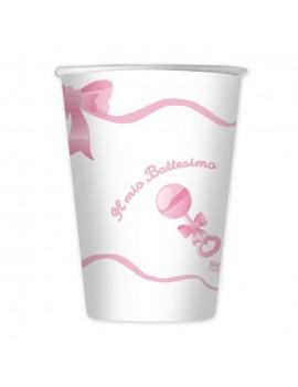 Bicchieri il Mio Battesimo Rosa (10 pz)