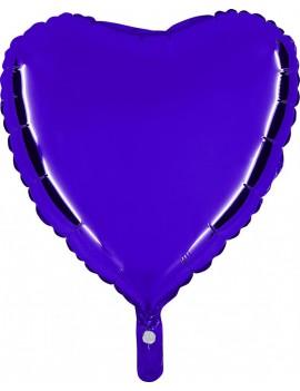 """Palloncino Cuore 18"""" Colore Blu"""