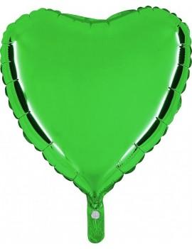"""Palloncino Cuore 18"""" Colore Verde"""
