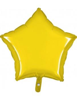 """Palloncino Stella 18"""" Colore Giallo"""