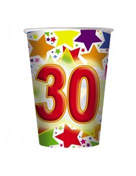 Bicchieri Compleanno Numero 30 (10 pz)