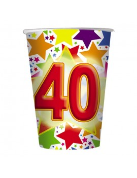 Bicchieri Compleanno Numero 40 (10 pz)