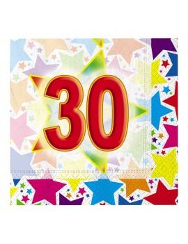 Tovaglioli 33x33 Numero 30 (20 pz)