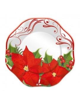 Piatti Stella di Natale da 23 cm (10 pz)
