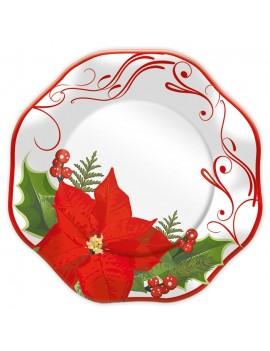 Piatti Stella di Natale Grandi da 32 cm (5 pz)