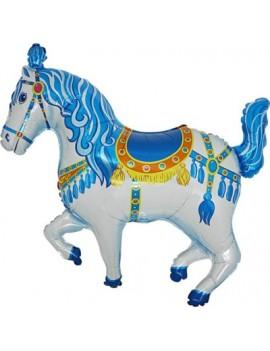 Mini Palloncino Cavallo Circo Blu