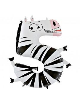 Animaloons Zebra Numero 5 (100cm)