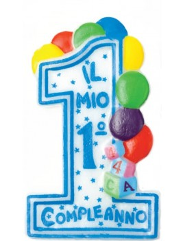 Candela il Mio 1° Compleanno Celeste