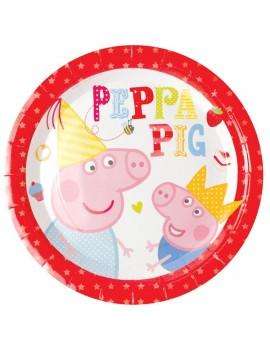 Piatti Peppa Pig da 23 cm (8 pz)