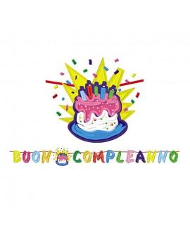 Festone Buon Compleanno Con Torta