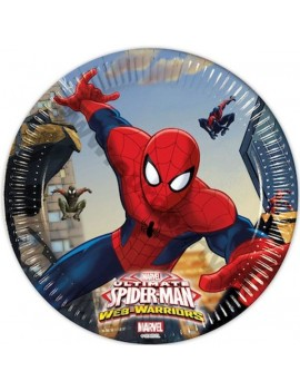 Piatti di Carta Spiderman da 20 cm