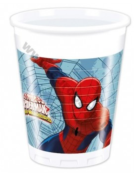 Bicchieri di Plastica Spiderman da 200 ml