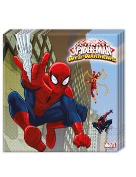 Tovaglioli di Carta Spiderman 33x33