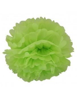 Pom Pom di Carta Colore Verde Chiaro