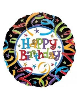 Palloncino Tondo Happy Birthday