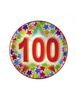 Piatti Compleanno Numero 100 (10 pz)