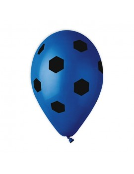 Palloncini in Lattice Calcio Blu e Nero (10pz)