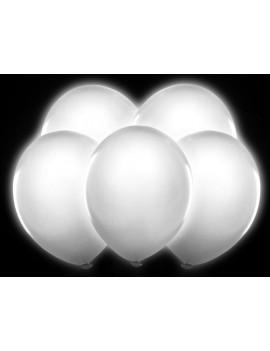Palloncini Luminosi Colore Bianco 10pz