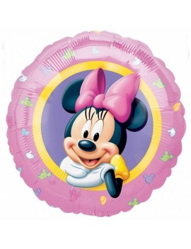 Palloncino Tondo In Mylar Minnie Mouse