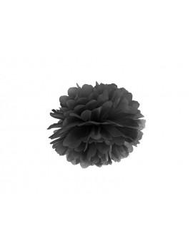 Pom Pom di Carta Nero 25 cm