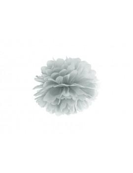 Pom Pom di Carta Argento 25 cm