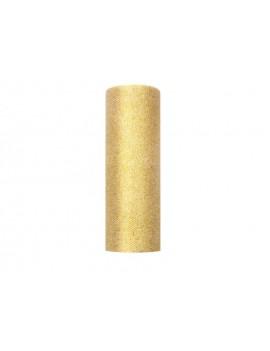 Tulle Glitterato 0.15 x 9m colore Oro