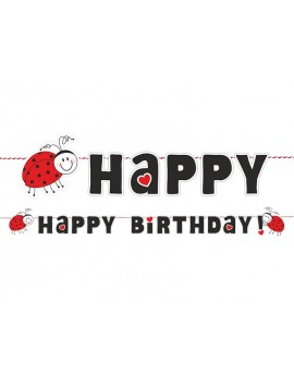 Festone Coccinella Happy Birthday