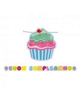 Festone Buon Compleanno Cupcake