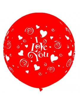 "Palloncino in Lattice 22"" I Love You"