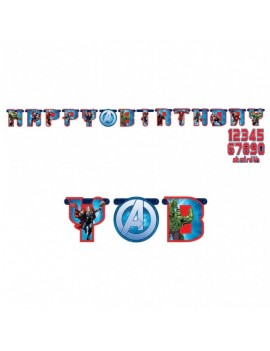 Festone Happy Birthday Avengers