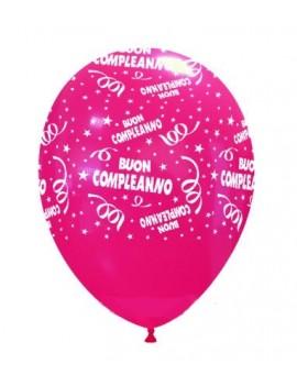 Palloncini in Lattice Buon Compleanno Fucsia