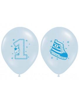 """Palloncini 14"""" Celesti Scarpetta e Numero 1"""