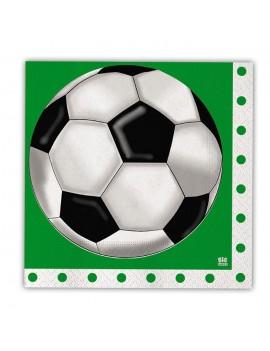 Tovaglioli di Carta a Tema Calcio 33x33cm