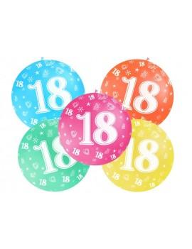 Palloni Giganti 18 Anni Multicolor (4 pz)