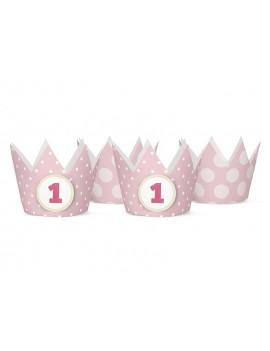 Coroncine Rosa Primo Compleanno