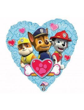 "Palloncino Cuore Love Paw Patrol 18"""