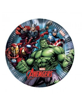Piattini di Carta Avengers Power da 20 cm (8 pz)