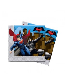 Tovaglioli di Carta Batman e Superman (20 pz)