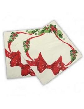 Tovaglioli 33x33 Fiocco di Natale (20 pz)