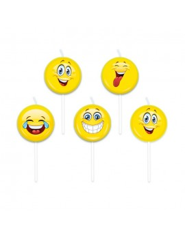 Candeline Picks Emoticons (5 pz)