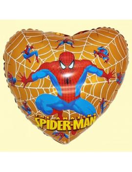 Palloncino Cuore Spiderman Oro