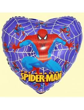 Palloncino Cuore Spiderman Blu/Viola