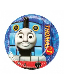 Piattini di Carta Trenino Thomas 18 cm (8 pz)