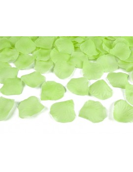 Petali Colore Verde Mela in Velluto