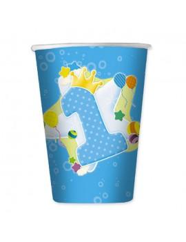 Bicchieri Celesti Primo Compleanno da 200 ml (10 pz)